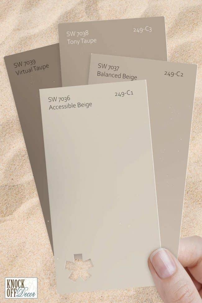 SW paint color multi accessible beige chips