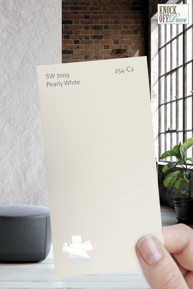 SW pearly white single paint chip