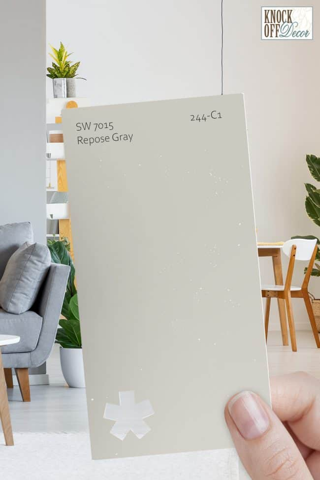 SW repose gray single paint chip