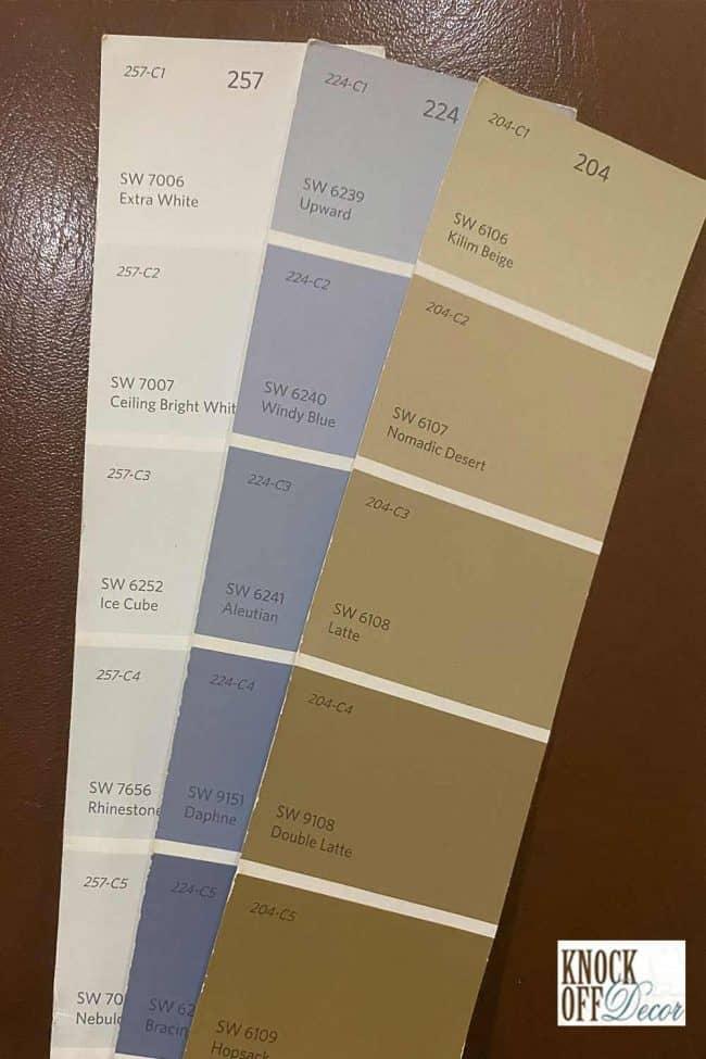 SW rhinestone color palette