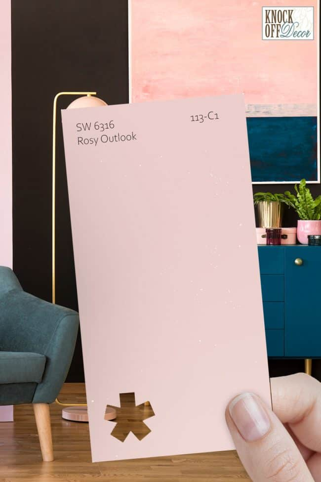 SW rosy outlook single paint chip