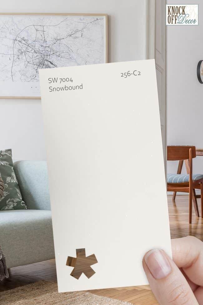 SW snowbound single paint chip