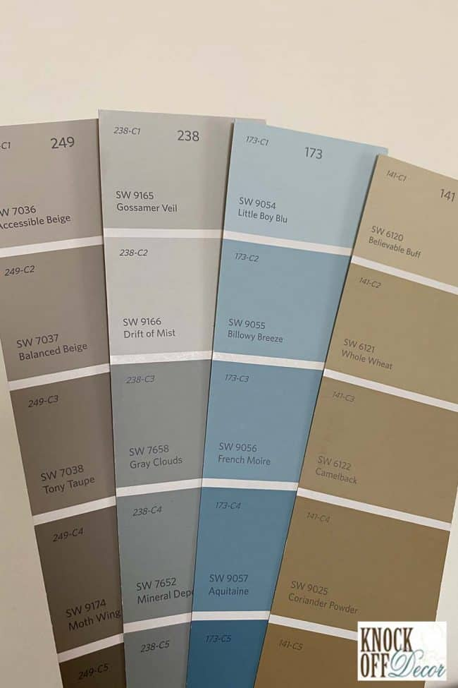 SW tony taupe coordinated Color Deck