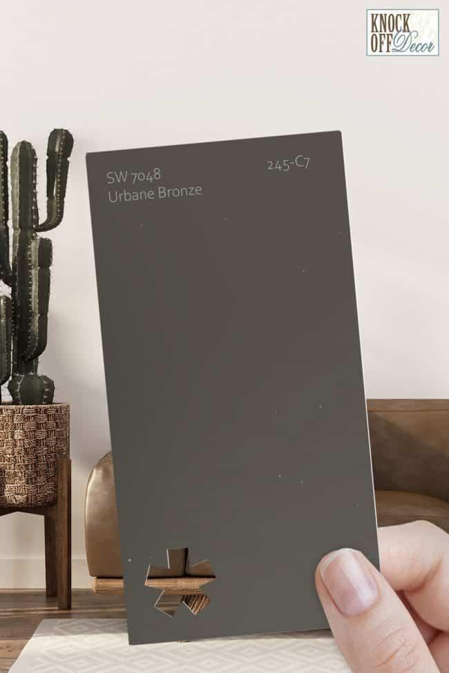 SW urbane bronze single paint chip