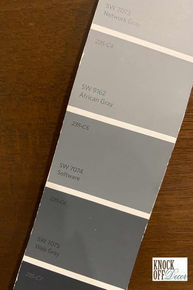 SW web gray color palette