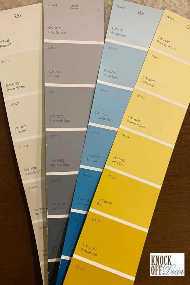 SW web gray coordinated color palette