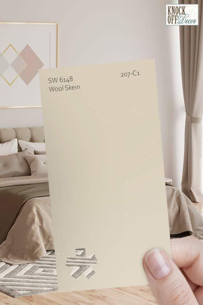 SW wool skein single paint chip 2