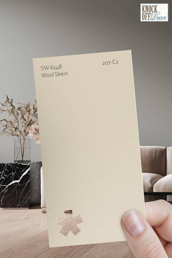 SW wool skein single paint chip