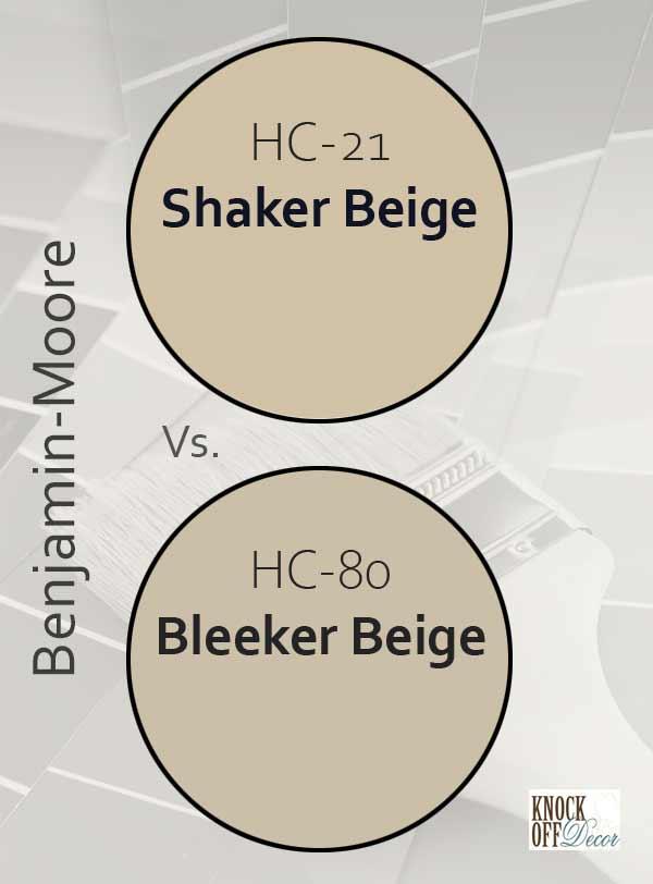 Shaker beige vs bleeker beige