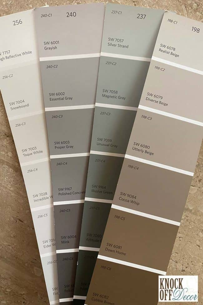 Silver strand coordinated Color Deck