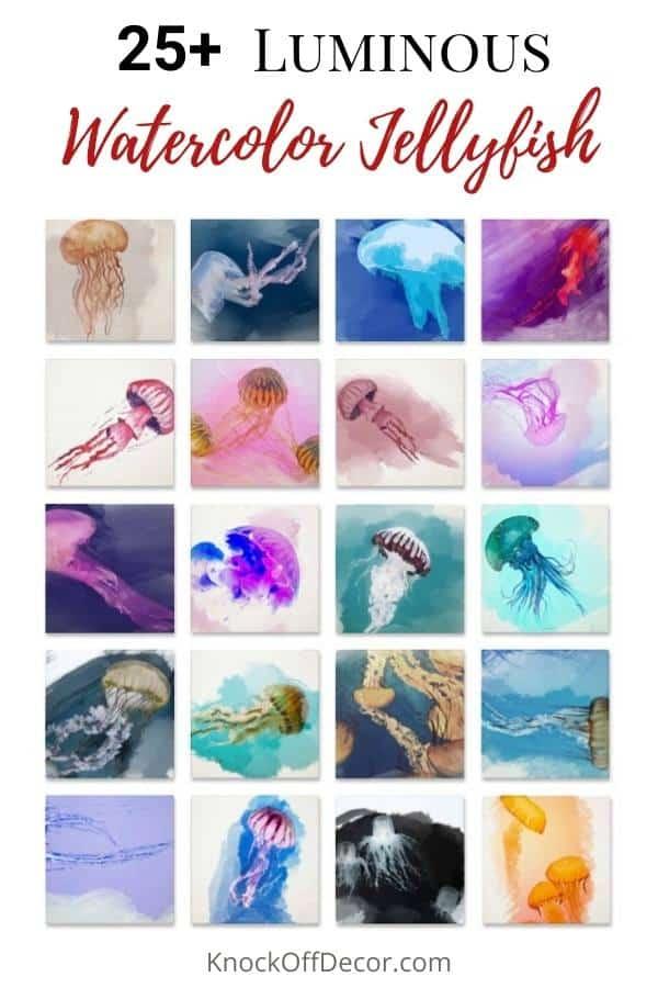 Watercolor jellyfish hdr