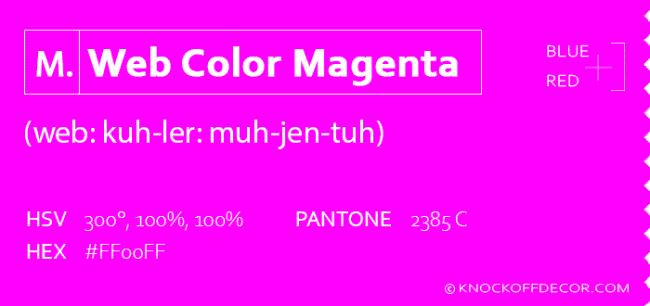 Web color magenta box