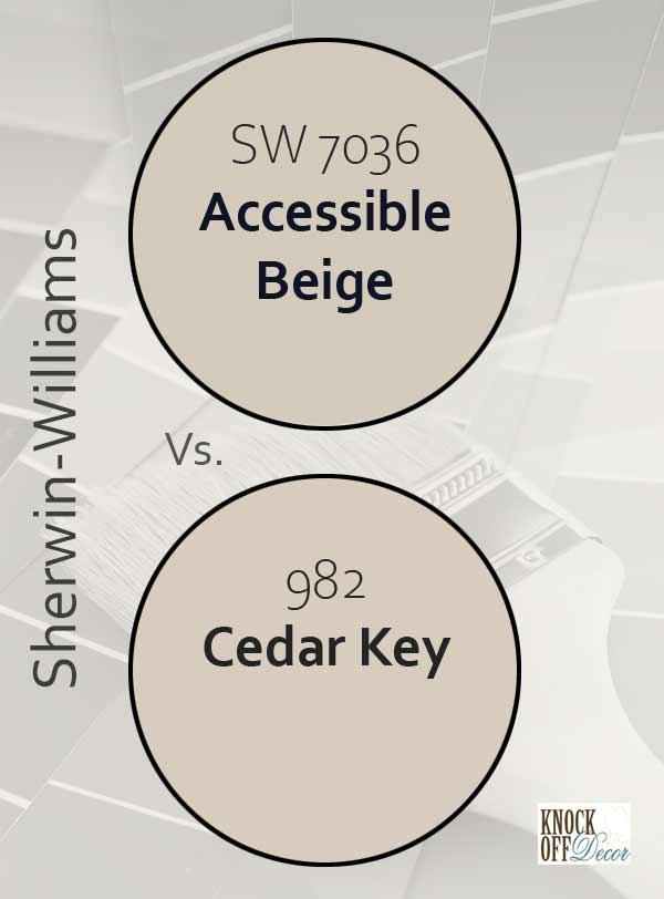 accessible beige vs cedar key