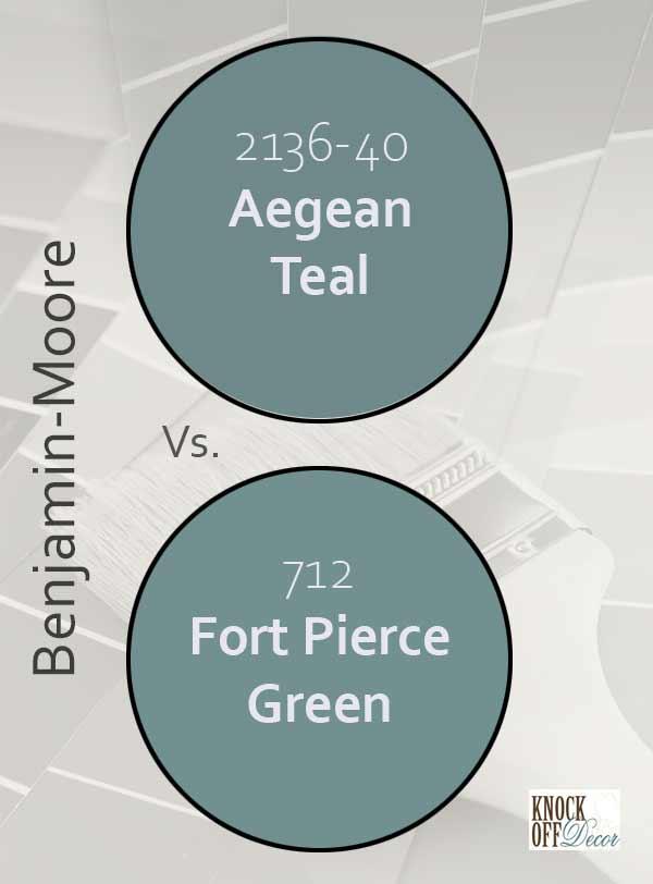 aegean teal vs fort pierce green