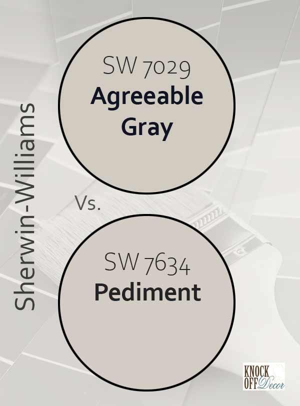 agreeable gray vs pediment