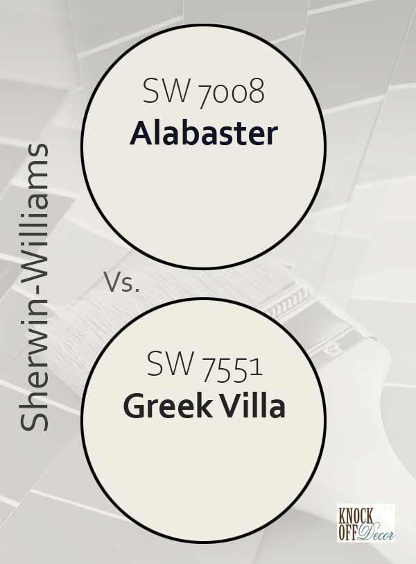 alabaster vs greek villa