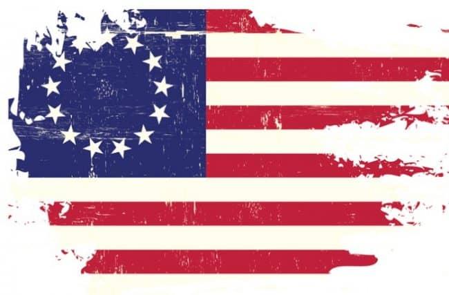american flag indigo color