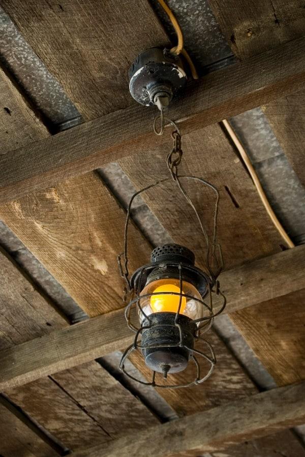 antique lantern hanging