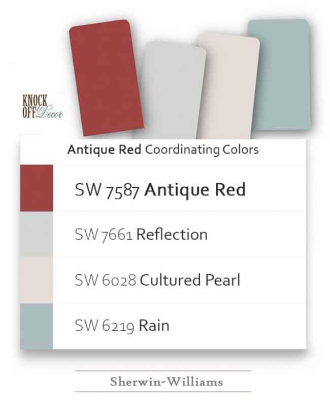 antique red coordination