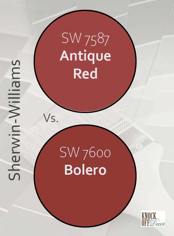 antique red vs bolero