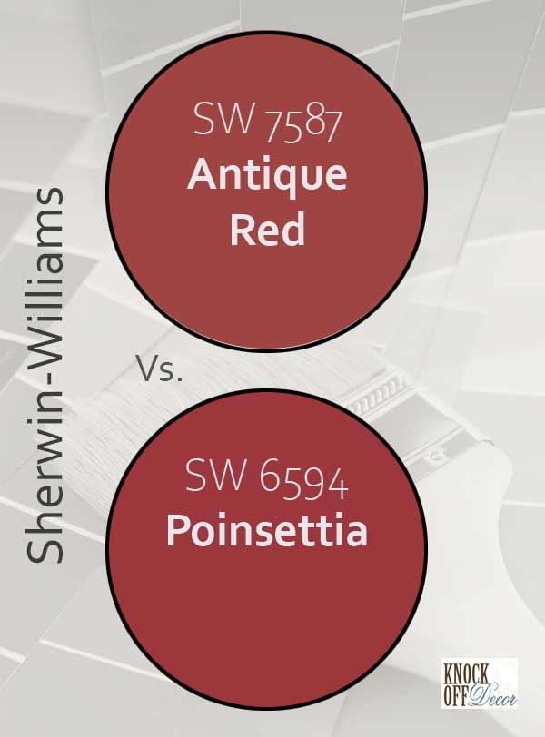 antique red vs poinsettia