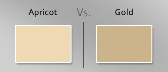 apricot vs gold