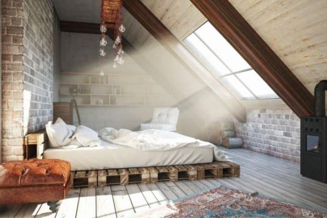 attic windows letting in light
