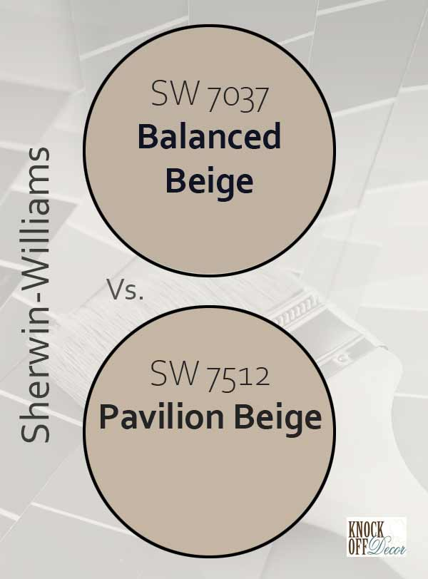 balanced beige vs pavilion beige