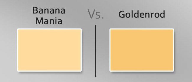 banana mania vs goldenrod