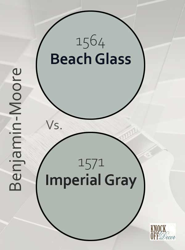 beach glass vs imperial gray