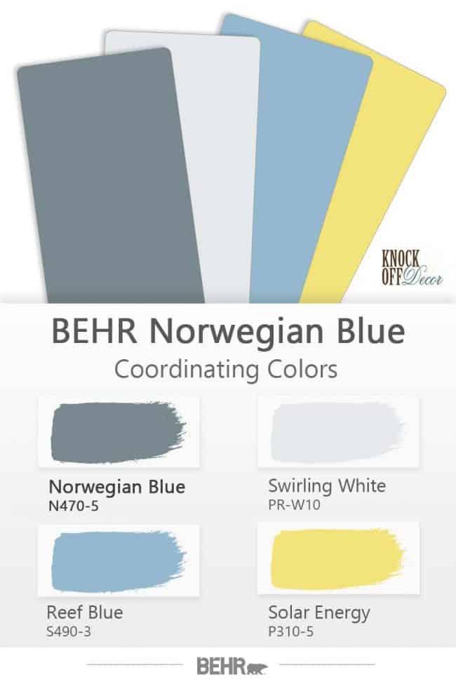 behr norwegian blue coordinations