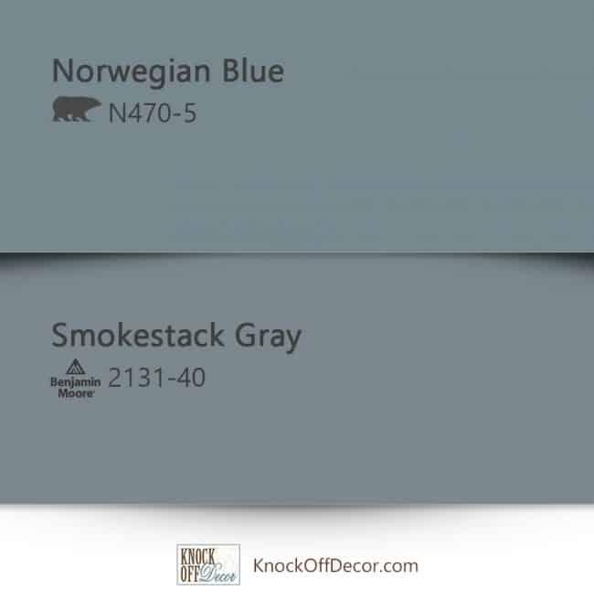 behr norwegian blue vs smokestack gray