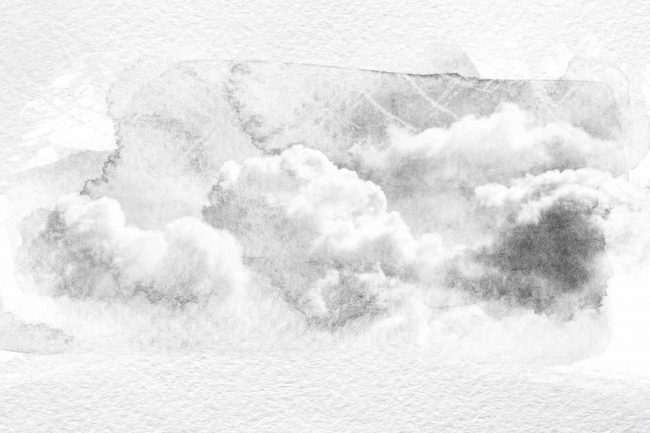 black and white watercolor clouds