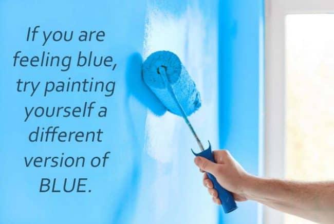 blue paint quote