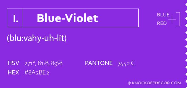 blue violet info box