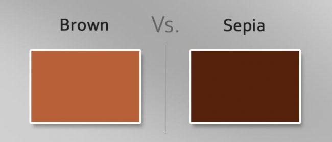 brown vs sepia