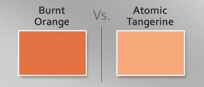 burnt orange vs atomic tangerine