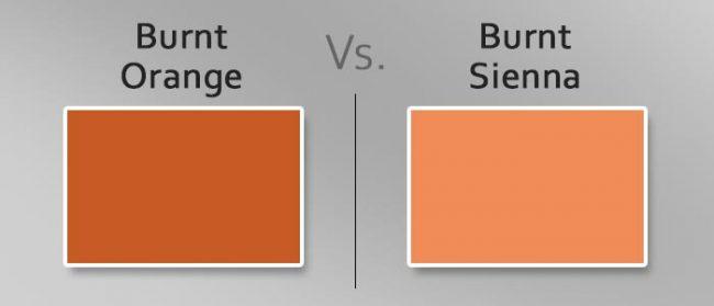 burnt orange vs burnt sienna