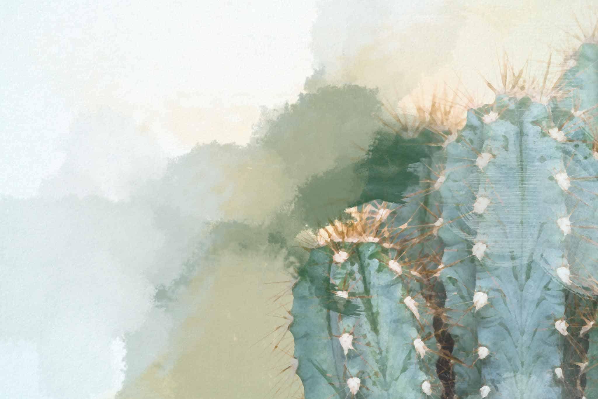 cactus green pale