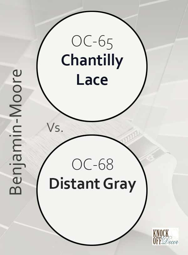 chantilly lace vs distant gray
