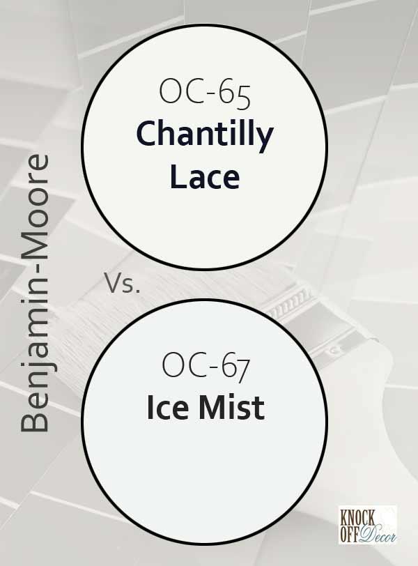 chantilly lace vs ice mist