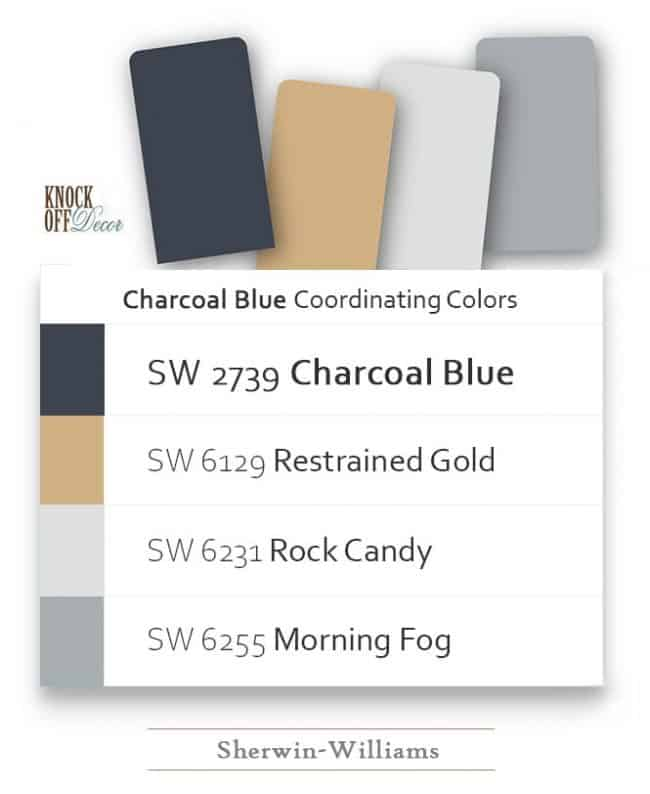 charcoal blue coordination