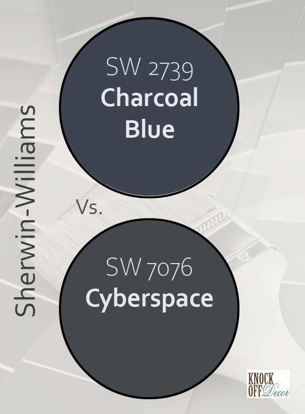 charcoal blue vs cyberspace