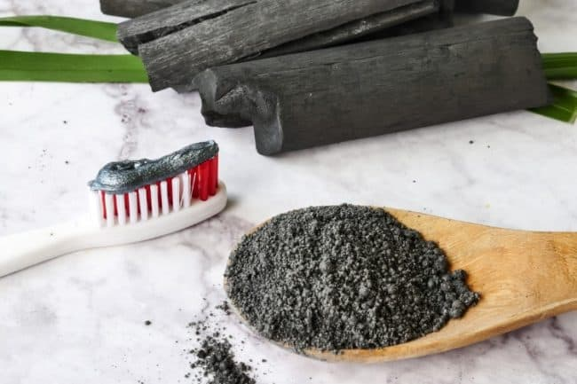 charcoal colored toothpaste