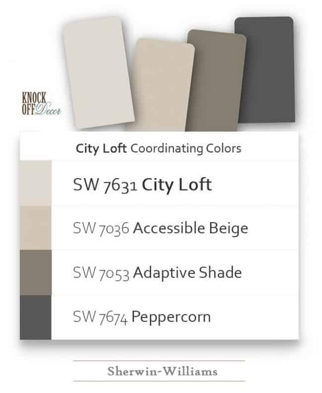 city loft color coordination