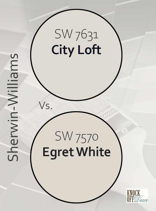 city loft vs egret white