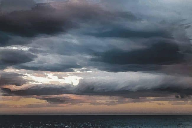 cloud sky ash water