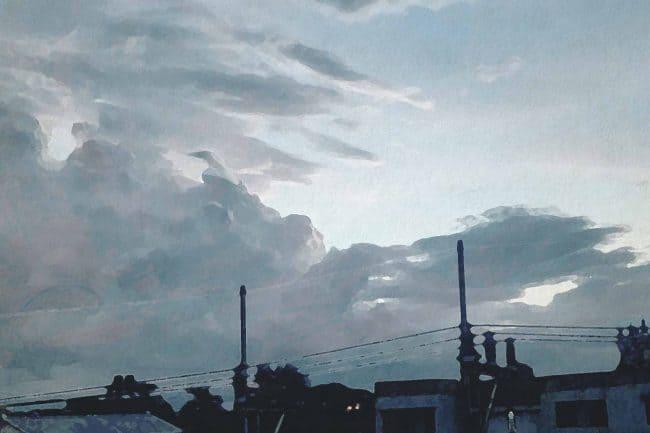 cloud sky city morning