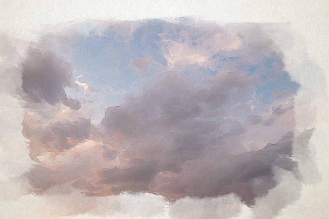 cloud sky pink yellow
