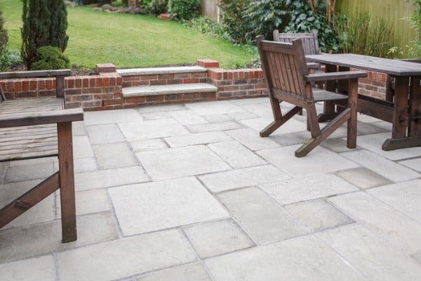 concrete stone patio